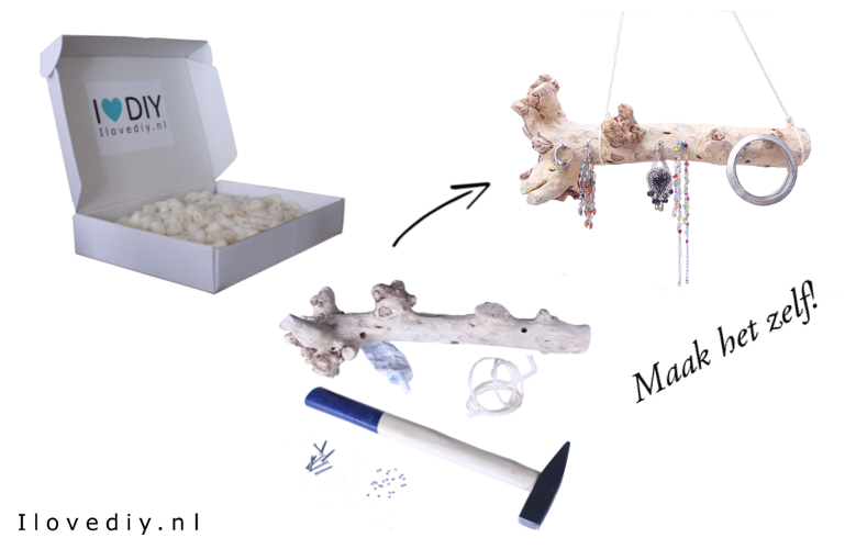 DIY-pakket: waxinelichthouder